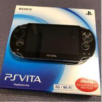 SONY PlayStation Vita PCH-1100 3G Wi-Fi Model Crystal Black Limited USED w Box