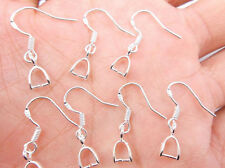 100PCS 925 sterling silver Hooks Earrings Pinch Bail Earring Earwire DIY Free