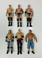WWE LOT OF 6 Wrestling Action Figures BASIC MATTEL Edge Cena Randy Kane Cody!!