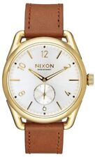 Nixon C39 Leather A4592227 White Dial Brown Leather Band Men's Watch