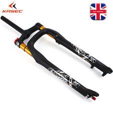 "KRSEC 26*4.0"" Beach Snow Bike Air Forks 1-1/8"" Fat Bicycle Suspension Fork 120mm"