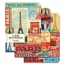 Cavallini - Set of 3 Mini Notebooks - Paris - Lined, Blank & Graph Interiors