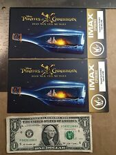 (Lot of 2) Pirates of the Caribbean IMAX Regal Tickets Dead Men Tell No Tales