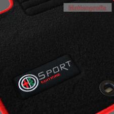 Velours Edition Logo Fußmatten Alfa Romeo 156 SW Kombi ab Bj.1997 - 2006 rot