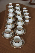 Yamasen Gold Collection Cappuccino/Coffee Cups & Saucers
