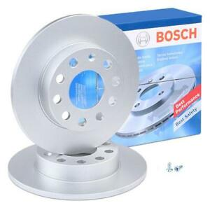 Bosch Rear Brake Disc Rotors 245mm BD883 fits Audi A4 B7 8EC 1.8 T 2.0 2.0 TFSI