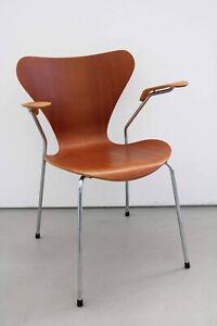 Arne Jacobsen 3207 Stuhl armchair Armlehnstuhl in teak by Fritz Hansen 1 v 3