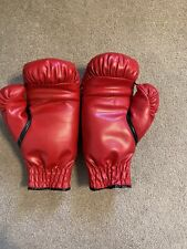 Everlast Laceless Training Gloves 14 Ounces Used Once! Red Color