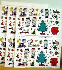 NEW Peanuts Gang Snoopy Lucy Charlie Brown Christmas Scene 204 Stickers