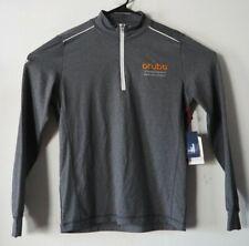 Johnnie O Lammie 1/4 Zip Pullover Aruba Hewlett Packard Cdw Gray Small Nwt