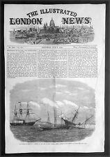 1864 July, ILN x 4 Pages, America Civil War - Sloop Alabama vs Kearsarge, Texans