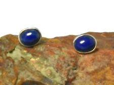 LAPIS  LAZULI  Sterling Silver 925 Gemstone Earrings / STUDS - 8 x 10 mm