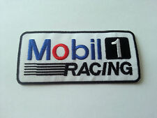 MOTOR RACING RALLY SPORT FUELS OILS SEW / IRON ON PATCH:- MOBIL (c) 1 RACING