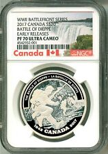 2017 Canada $20 WWII Battlefront Series Battle Of Dieppe NGC PF70 UC Box COA OGP
