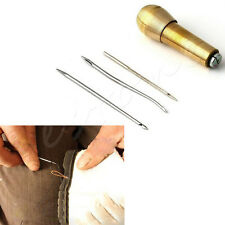 Leather Tent Canvas Sewing Awl Hand Stitcher Taper Leathercraft Needle Kit Tool