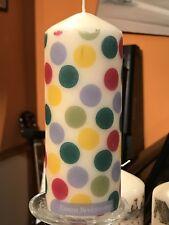 EMMA BRIDGEWATER TIGHT POLKA DOT Hand Decor Pillar Candle 15x6cm