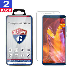 """(2 Pack) GLASAVE Tempered Glass Screen Protector For """"Huawei Mate 10 Pro"""""""