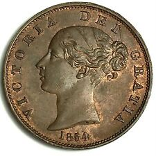 More details for 1854 half penny ef collectable grade ref:e90