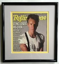 ORIGINAL 1985 STING AUTOGRAPHED ROLLING STONE COVER FRAMED  STING LOSES HIS COOL