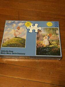 NEW FX SCHMID 2-24pc PUZZLES 'LITTLE BO-PEEP & MARY, MARY QUITE CONTRARY'