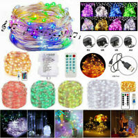 50/100/200 LED USB/Electric/Battery Operated LED Copper Wire String Fairy Lights
