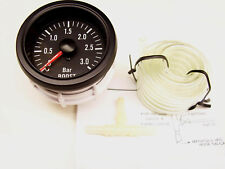 RSR Ladedruck Anzeige 3BAR SET 52mm Retro Look Boost Gauge 16V R32 VR6 Turbo S2