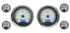 Dakota Digital Universal 6 Round Gauges Analog Dash System Bezels Kit VHX-1024