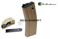 WE 30rds Open Bolt Airsoft Co2 Gas Magazine For WE SCAR L85 M Series GBB TAN 022