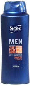 1 Bottle Suave 28 Oz Men 2 In 1 Pure Power Anti Dandruff Shampoo & Conditioner