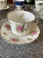 Old Royal England bone china tea cup. Pink roses are beautiful