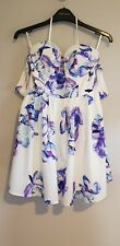 Knight Angel Size 8 Floral Skater Lined Dress  Casual Holiday Beach Travel BNWT