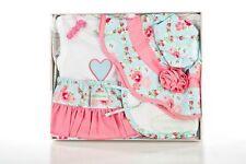 Baby Girl New Box Gift Garden Gift Pack Hat, Singlet, Bib, Over Pant  Summer
