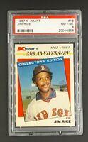 1987 K-Mart #18 Jim Rice HOF Boston Red Sox KMart PSA 8 NM-MT
