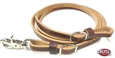 """Flat Roper 1/2"""" x 8' Adjustable Rein St Harness Leather by Weaver Free Shipping"""