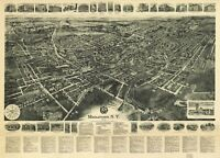 A4 Reprint of American Cities Towns States Map Middletown Ny