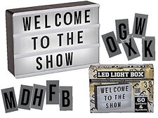 LED CINEMATIC LIGHT UP BOX WITH 60 LETTERS & SYMBOLS MESSAGE SIGN BOARD 15x10cm