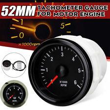 0-6000 RPM LED Tachometer Gauge Meter For Diesel Motor Engine Car Truck 12V