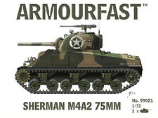Armourfast 99021 1/72 WWII USA Sherman M4A2 75mm Tank (2 Models)
