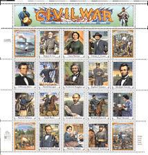 USA 1995 Civil War/Submarine/Navy/Army/Horses/Medical/People 20v sht (n15888)