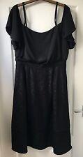 """NEW """"Warehouse"""" Women's Lace Woven Mix Dress, Size 14, Black"""
