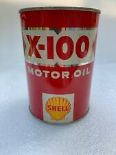 Nice Vintage Shell X-100 One Quart Motor Oil Can