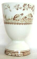RARE FURNIVALS BROWN DOUBLE EGG CUP HOLDER ENGLAND C 1900