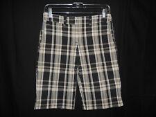 "New York &CO ""Manhattan Chino"" Women Stretch Plaid Checked Bermuda Shorts Size 2"