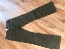 Ladies Dark Green Orvis Trousers Cotton Textured Immaculate Cond Size 10