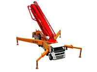 1/50 DY Mercedes-Benz Actros Concrete Pump Truck Orange Diecast Car Model Toy
