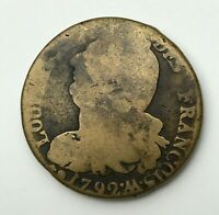 Dated : 1792 M - Copper Coin - France - 2 Sols - Two Sols - Louis XVI