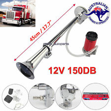 150db Truck Mega Train Car Single Trumpet Air Horn 12V Compressor Lorry RV Loud