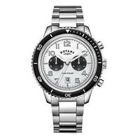 Rotary Mens Chronograph Quartz Watch with Stainless Steel Strap GB05021/18