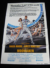 MOONRAKER 1979 * ROGER MOORE JAMES BOND 007 * REVIEW ONE SHEET * C10 MINT UNUSED