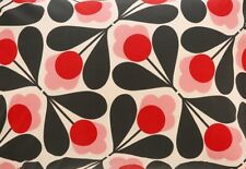 Orla Kiely Sycamore Seed in Fuchsia Pink 25cm / 100cm wide Fabric Cotton New